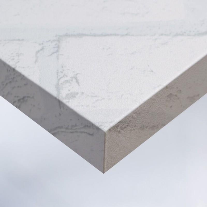 Adhésif pour rénovation murale effet Brique Blanche
