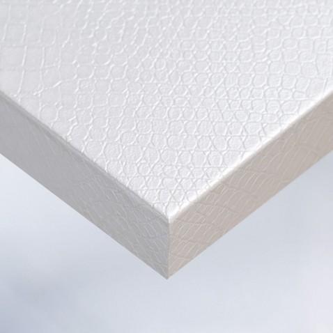 Papier adhésif pour home staging Blanc effet Peau de Crocodile
