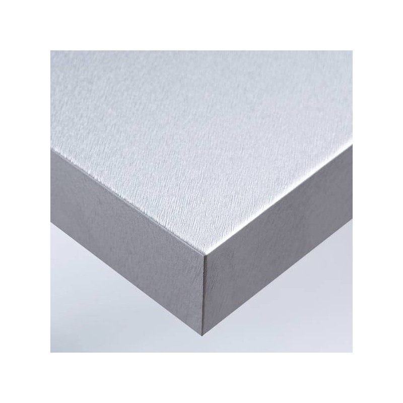 Film adhésif pour meubles ou pour murs finition argent brossé