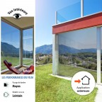 Film solaire teinté avec effet réfléchissant pour fenetre de toit pose exterieure