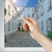 Film miroir sans tain Argent clair pose extérieure - 75 microns