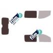 Kit film solaire Fiat Scudo (2) Utilitaire 4 portes (depuis 2007) hayon