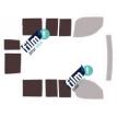 Kit film solaire Fiat Doblo (1) 5 portes (2001 - 2009) avec 2 portes arriéres