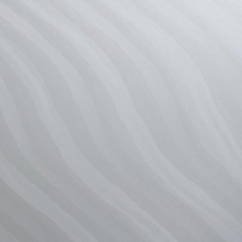 Sticker décoratif mural Blanc Métallisé à motif de Vagues