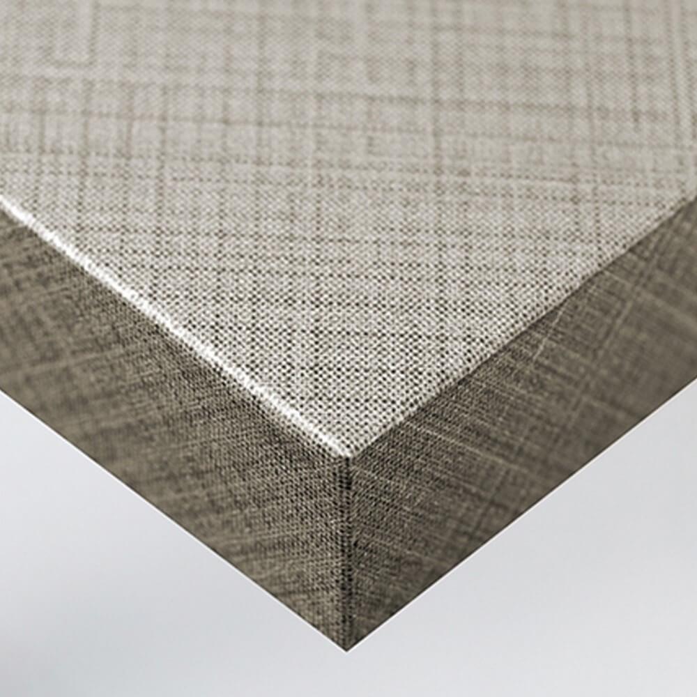 Tissu - Lignes argentées et marron