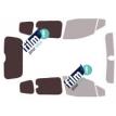 Kit film solaire Ford Courier (1) Tourneo 5 portes (depuis 2014) vitré avec hayon