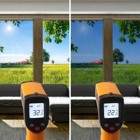 Film solaire anti chaleur fenêtre de toit Argent clair pose extérieure - rejet solaire 70%