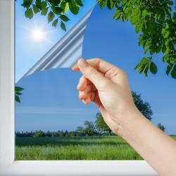 Film solaire anti chaleur réfléchissant Argent foncé pose extérieure - rejet total énergie solaire 85%
