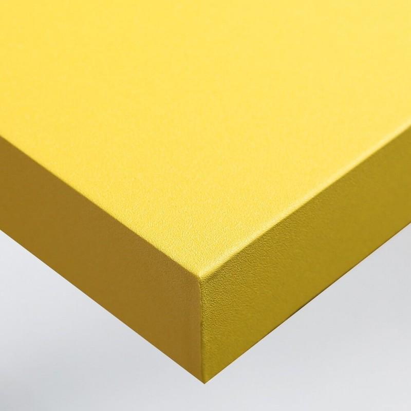 Sticker décoratif pour home staging Jaune Brillant texture Grains Fins