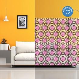 Film électrostatique décoratif à rosaces roses