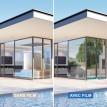 Film solaire anti chaleur Argent clair double vitrage pose extérieure - rejet total énergie solaire 69%