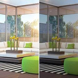 Film solaire anti chaleur bronze pose exterieure pour double vitrage - rejet total énergie solaire 85%