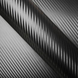 Covering pour voiture Noir effet Carbone - 3D