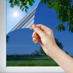 Film de protection solaire très foncé doublé d'un effet miroir intense rejet solaire 87 %