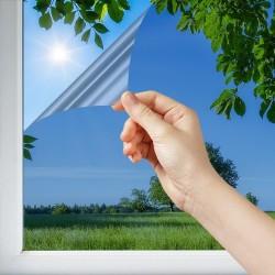 Film anti soleil thermique bleuté pose extérieure rejet solaire 84%