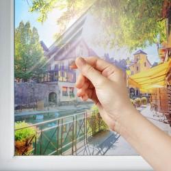 Film solaire repositionnable anti décoloration transparent