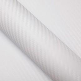 Covering carbone pour toit de voiture Blanc - 2D