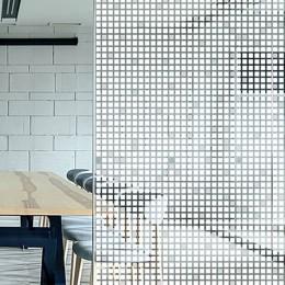 Film adhésif brise vue carreaux blancs effet 3D