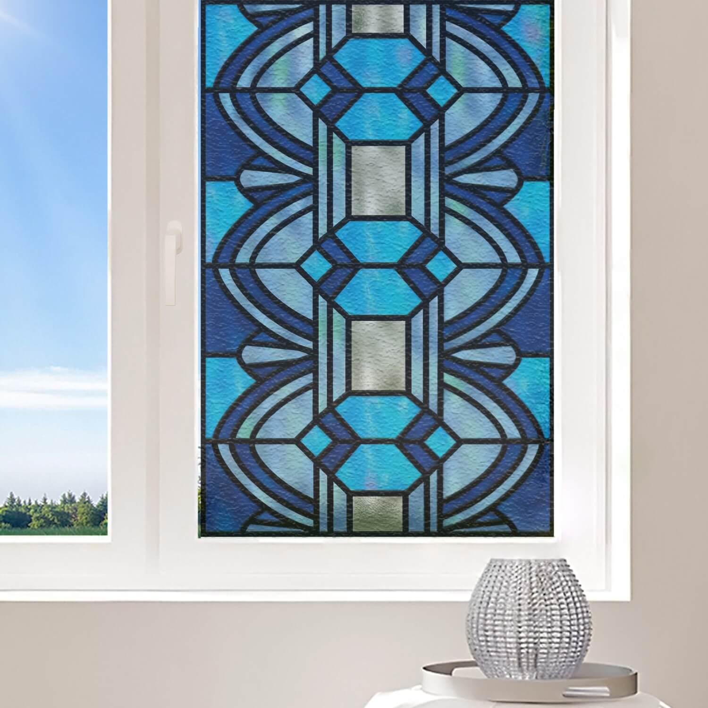 Formes géométriques bleues