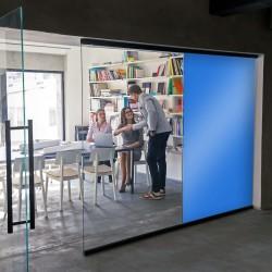 Adhesif opacifiant couleur bleu continental pour vitre - 80 microns