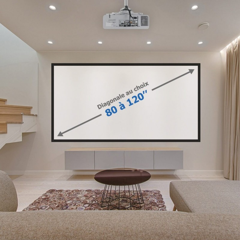Kit de projection pour home cinéma blanc