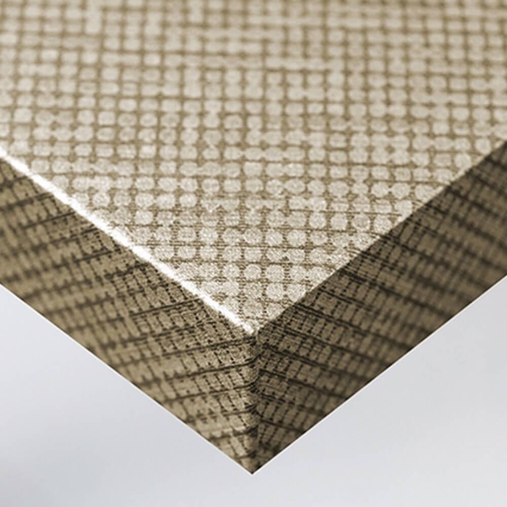 Tissu - Points dorés et argentés