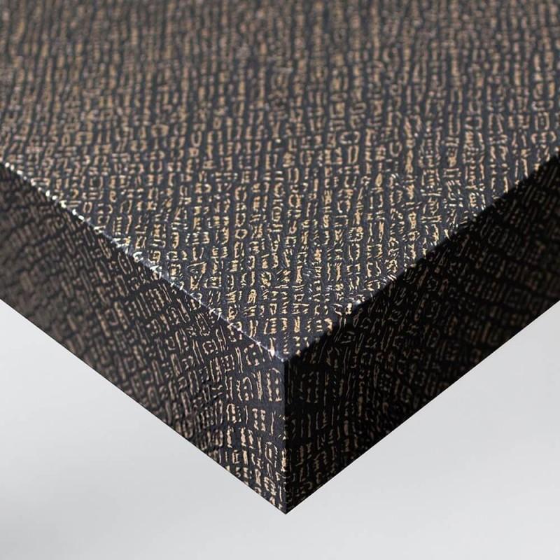 Revêtement décoratif pour rénovation intérieure effet Fibres Or et Noires