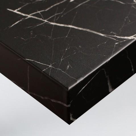 Sticker décoratif pour rénovation de mobilier effet Marbre Noir Cendré