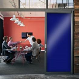 Film fenetre anti regard teinté bleu pour animer vos fenêtres - 80 microns