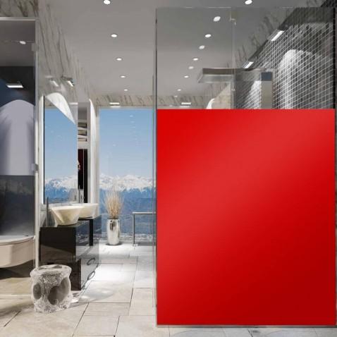 Film adhésif vitrage teinte rouge clair pour protéger des regards - 80 microns
