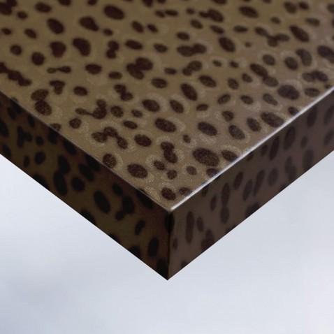 Revêtement adhésif pour rénovation de mobilier effet Cuir Léopard