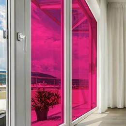 Film adhésif de couleur Rose transparent