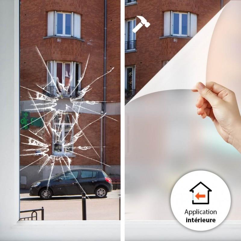 Film solaire anti chaleur Argent clair double vitrage - rejet solaire 38%