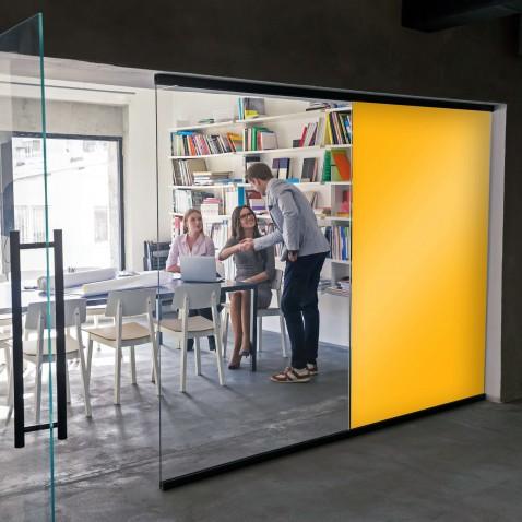 Film pour fenetre jaune foncé parfait pour couper la vision - 80 microns
