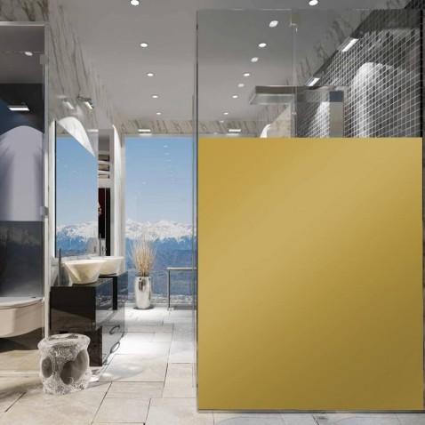 Adhésif opacifiant doré métallisé pour vitrage pour une touche de design - 80 microns
