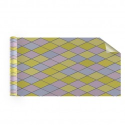 Film adhésif décoratif vitrail Arlequin losange - 36 microns