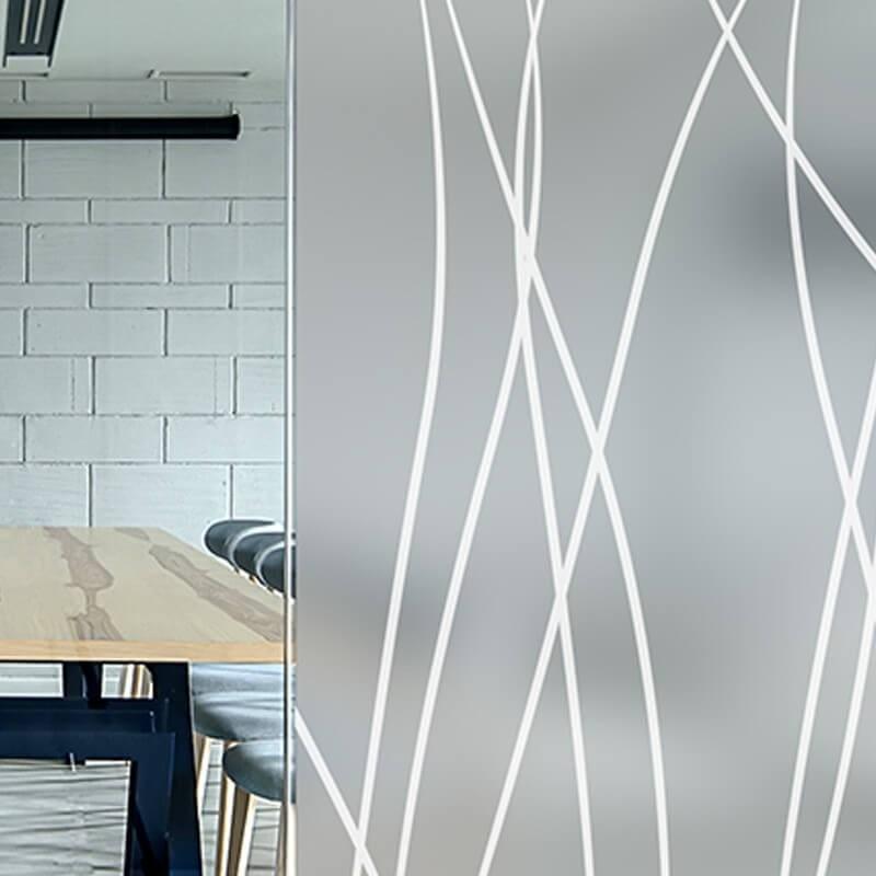 Film decoratif jaune canari transparent pour table en verre