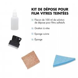 Kit pour décoller le film adhésif pour vitrage et film teinté voiture