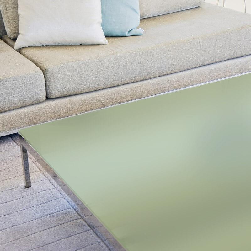 Film de protection depoli vert table en verre - 80 microns