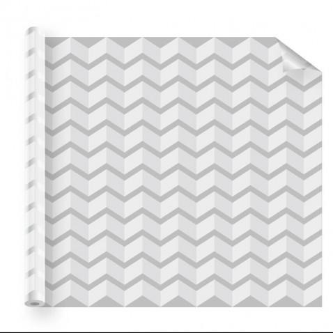 Adhésif déco vitrage géométrique cubique blanc