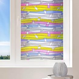 Film electrostatique Vitrail multicolore