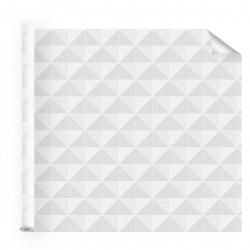 Film adhésif motif kaléidoscope prisme blanc