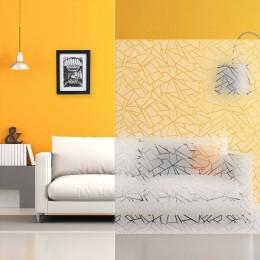 Film design decoration motif effet vitrage brisé