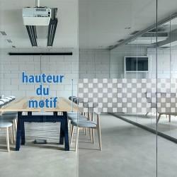 Film electrostatique design Damier