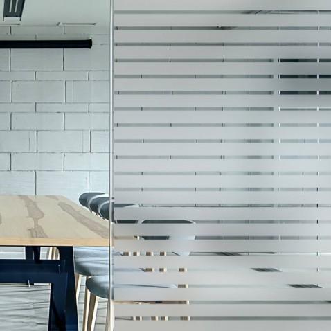 Film décoratif vitrage bandes dépolies 35-10mm
