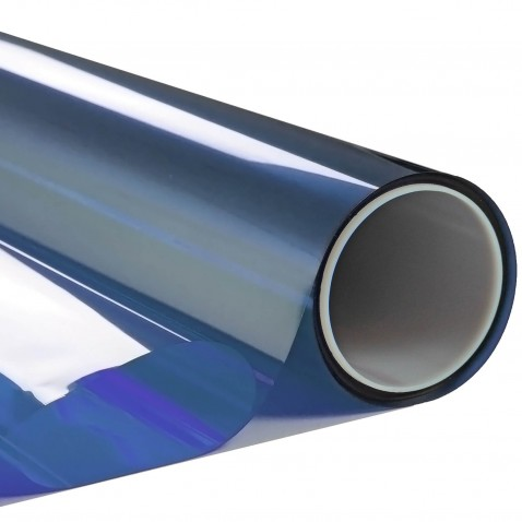 Film adhésif transparent couleur Bleu océan