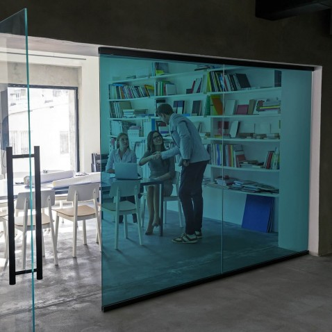 Film adhésif transparent couleur Bleu turquoise