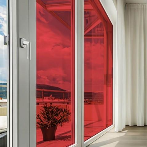 Film autocollant transparent teinté Rouge