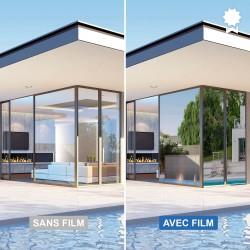 Film anti chaleur - Argent chromé - Haute durabilité