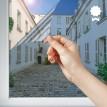 Film miroir sans tain argent chromé - Haute durabilité